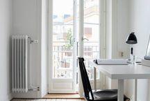 French Doors Narrow Bedroom