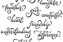 Fonts and Lettering / by Kathy Ahrens