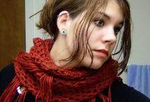 Crochet shawl, cowls and scarfs