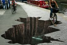 STREET ART / Street Art is not Graffiti. Buildings, fences, stairways have been painted or sculptured to make an Artistic Statement