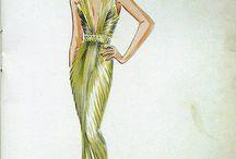 Schizzi di moda vintage