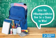 "Pin it to Win it – Realestateagent.com Backpack Giveaway / Helping Children Go Back to School in Style! Realestateagent.com is Giving Away 20 New Backpacks to Fans/Followers.   Official Rules Here: https://www.realestateagent.com/pinterest.html  Use hashtags #REABacktoSchool #BackpackGiveaway Ask your friends to ""Like"" your Entry"