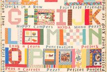 "Moda's ""Spell it with Fabric"" blog hop / Blog posts for each letter with links to free patterns"