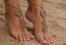 <Barefoot Sandals> / Nude shoes, Foot jewelry, Lace shoes, Yoga Anklet , Neutral barefoot sandals!