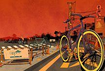 Umění a cyklistika / Cycling Art and Illustrations / Cyklistické ilustrace, fotografie a umělecké instalace. / Cycling illustrations, photos and artistic instalations.
