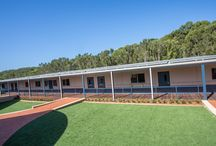 St Philip's Christian College – Salamander Bay / The St Phillips Christian College at Salamander Bay engaged MBS to remove and dispose of their old demountable classrooms then design, off-site modular construct and install 500m2 of new classrooms over the holiday period. The design brief included learning areas, science lab, office and required the new classrooms to be aesthetically pleasing and to complement the existing school buildings and landscaping.