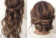 Bridesmaid / Hair styles , make up ideas
