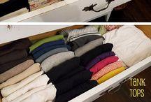 organização gavetas blusas