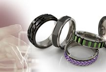 **Fidget Spinner Titanium Rings** / Fidget spinner you can wear ! Our titanium rings are designed to offer a bit of relief from everyday small stressful things, as well as long-lasting style and uniqueness !