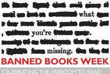 """Banned Books Week September 22-28, 2013 / """"Banned Books Week is an annual event celebrating the freedom to read. It highlights the value of free and open access to information. Banned Books Week brings together the entire book community –- librarians, booksellers, publishers, journalists, teachers, and readers of all types –- in shared support of the freedom to seek and to express ideas, even those some consider unorthodox or unpopular."""" (ala.org) / by Marin Library"""