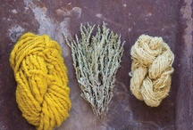 Dying: as in fabrics/fibers/plants