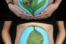 Creative Mischief - Belly Painting by Erin Skeen / Erin Skeen, founder of Creative Mischief Face and Body Painting - Bellys are up there with my favourite things to paint!!