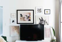 Tv art wall
