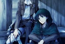 ATTACK OF TITAN / me encanto este anime aguante LEVI-EREN-MIKASA-ARMIN-HANGE-ANNIE.