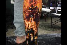 Tatuaże na nogach