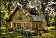 Log homes / by Mary Brown