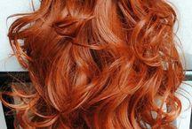 Cheveux cuivrés roux