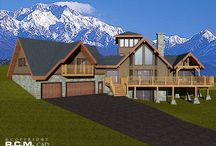 3151 sq. ft. Big Gilmore / These are the 3D floorplan renderings for our 3151 sq. ft (292.7 sq m) Big Gilmore, which is the Plan of The Week. #loghomes #design