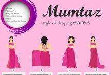 Saree drape