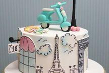 Paris themed cakes