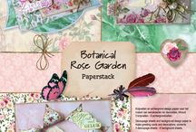 CraftEmotions - Botanical Rose Collection / A collection matching products for cardmaking, mixed media and more. Available products: decorated paperstack A4 size (cutting sheets and background sheets), clearstamps, mask, dies set.
