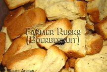 rusks, scones , breads , pies etc