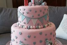 Teddy bear cake - 1st birthday