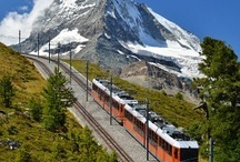 Swiss Train Trips / There is something about going on a train through the Alps and countryside of Switzerland, be it on a cog wheel train or just a normal train