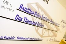 Popsicle Stick Bridge Cheque Presentation / On April 22nd, 2015, Mohawk College proudly presented the Hamilton Police Services - Project Concern with a $1000 Cheque as part of the annual Building & Construction Sciences Popsicle Stick Bridge Competition.
