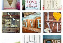 DIY love sign / Assort