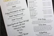 Wedding Printing Ideas / by Carrie Bundren