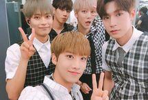 KNK (크나큰) / Bias : Youjin Bias Wreckers : Inseong & Seungjun Members : Jihun, Inseong, Heejun, Youjin, Seungjun Fandom Name : Tinkerbell