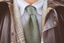 "Broke and Bespoke: Winter Layering / A 3-picture post on the blog ""Broke and Bespoke"": ""Winter Layering with a Wool/Silk Tie Tweed Jacket, and Thornproof Jacket""."