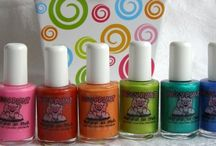 Piggy paint nail polish-nontoxic / Water based nail polish for kids.  Beautiful colors that little girls love.  This nail polish for kids is as natural as mud since they still put their hands in their mouth- injestion of toxic substance can harm your little one but piggy paint is pthalate free.