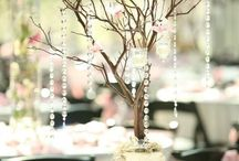 Cherry Blossoms Wedding Theme Table Settings