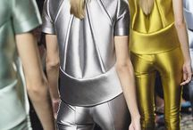 Metallic fashion.