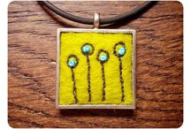 Embroidered Necklaces on Felt
