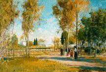 Girona. / Eliseo Meifrén Roig. Pinturas al óleo de Girona.