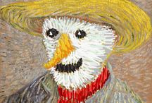 Great painters also support the World Day of Snowman / known works of art