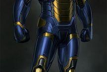 Arte - Heróis e heroínas Marvel e DC Comics