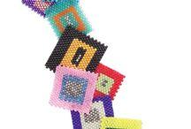 peyote, brick stich. loom. crochet