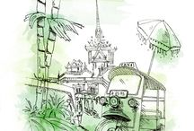 Illustrated Cities / Travel through art with AccorHotels! Admire these drawings and discover more about these beautiful cities :)