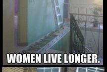 why woman live longer