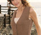 knitting WOMAN vests