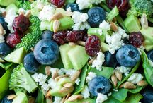 Broccoli and spinach salad
