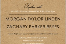 Invitations/Stationary  / by Terry Wilone