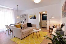"""Apartament cu trei camere amenajat de Irina Neacșu în THE Park 2 / Amenajarea preia tema """"travel"""", astfel încât fiecare cameră devine o destinație distinctă: living – urban/ dormitor matrimonial – exotic/ bucătărie – nordic/ camera copil – la munte  http://irinaneacsu.com/project/the-park-2-app-14-2015/"""