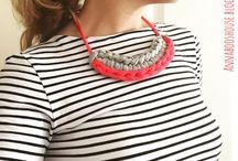 Tshirt yarn jewelry