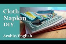 cloth napkin diy,مفارش،مناديل وغيره