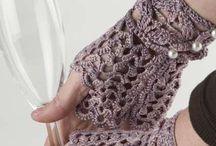 Crochet fingerles gloves